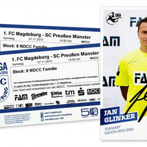 Fußballfreikarten und Autogrammkarte gewinnen