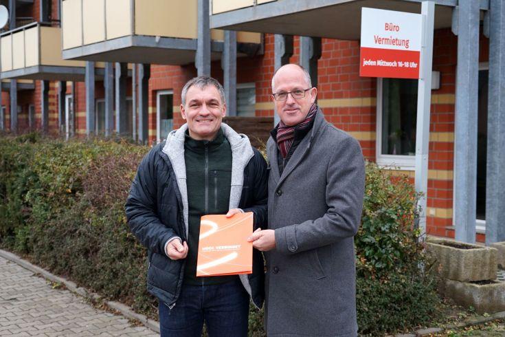 Eigentümer Heiko Bauer und MDCC-Geschäftsführer Guido Nienhaus